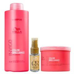 Kit-Shampoo-1L-Mascara-500G-Wella-Brilliance-e-Oil-Reflections-30ML